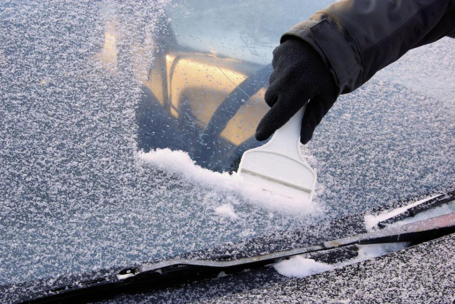 scraping car window